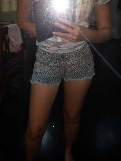 Bundle- Red / white / leopard printed shorts