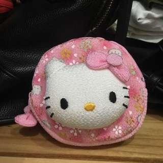 kitty粉色零錢耳機包