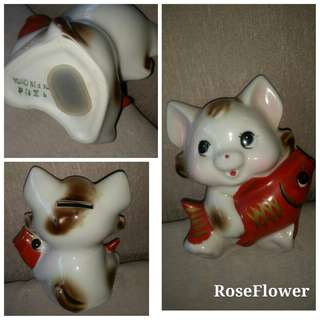 🔥KEPT 30 YEARS🔥Fortune Cat Piggy Bank