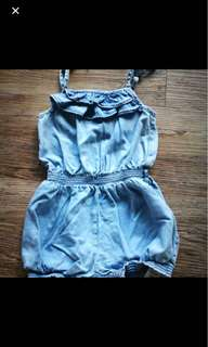 Baby jeans denim jumpsuit dress