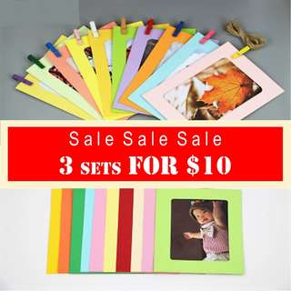 MIX COLOUR PAPER PHOTO FRAME