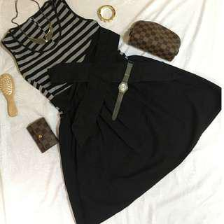 Black and Gray Striped Dress