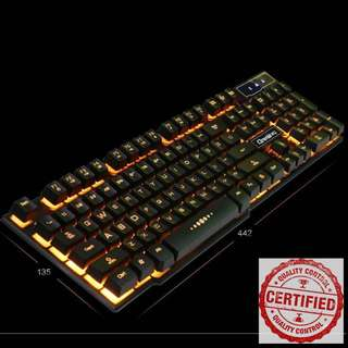 🚚 BNIB Yellow Backlit with Character Glow Keyboard for Gaming YE63