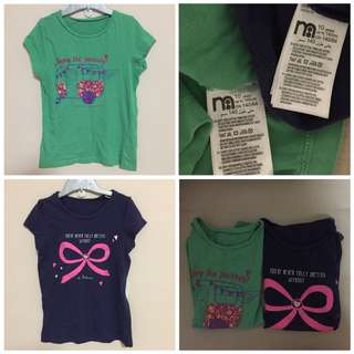 2 For $5 - Mothercare girls tee size 10 years (cutting very small)
