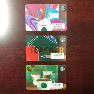 Starbucks Card for teachers (US Collectibles)