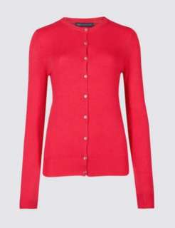 M&S cardigan  Red
