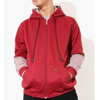 Jacket Hoodie Red