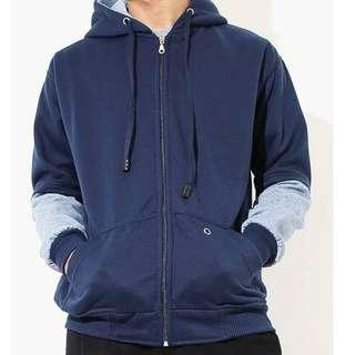 Jacket Hoodie Blue