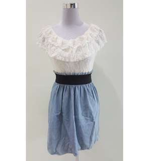 Lace and Jeans Dress