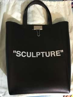 "90%NEW Off White ""SCULPTURE"" Leather Tote"