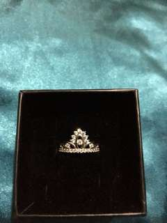 Silver Works Crown Ring - Size 6