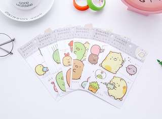 🚚 [PO] Preorders - San-X Sumikko Gurashi Cute Stickers @ $1.20 per pack or All 6 designs for $6 only!!!