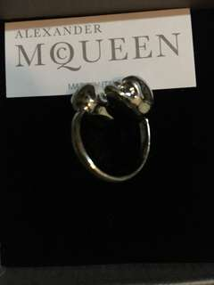100%NEW Alexander Mcqueen Ring in Sliver Color  SIZE11