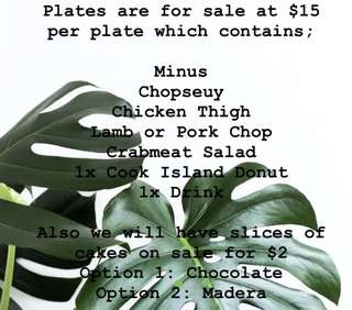 ISLAND PLATES (Order now for 28th July)