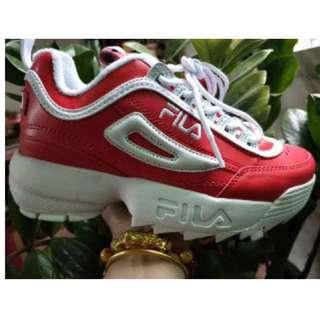 Ready stock I Fila sneaker red