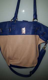 Colette beige and blue handbag