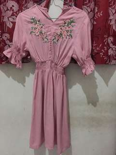 Dress cantik pink