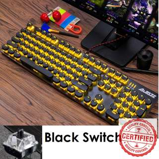 🚚 BNIB Mechanical Yellow Gaming Keyboard (Black Switch)