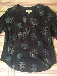 3/4 cotton blouse
