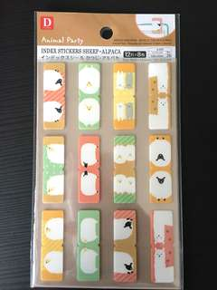 [INS]Daiso alpaca index sticker