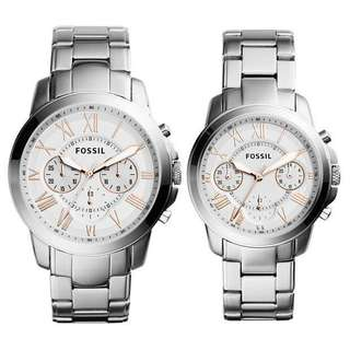 Fossil couple watch gift box
