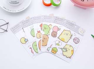 🚚 PO] Preorders - San-X Sumikko Gurashi Cute  Stickers @ $1.20  per pack or All 6 designs for $6 only!!!