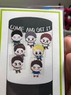 Got7 EMW metal stickers