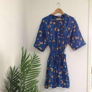 moon star and sun celestial satin robe