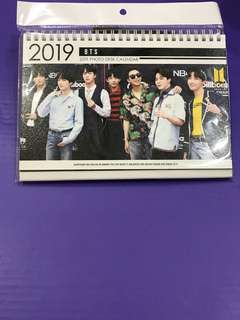 BTS Hard Cover 2019-2020 Desk Calendar