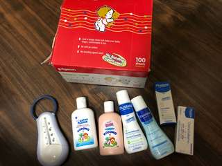 Assorted babies essentials