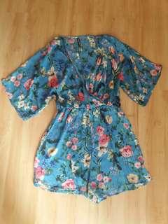 Printed kimono jumsuit stradivarius