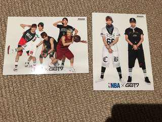 GOT7 X NBA official postcards