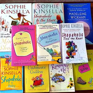10 for $20: Sophie Kinsella: Confessions of a Shopaholic; Shopaholic Takes Manhattan; Shopaholic to the Stars; Shopaholic & Sister; The Undomestic Goddess; Shopaholic Ties the Knot; Shopaholic & Baby; Mini Shopaholic; Remember Me?; Sleeping Arrangements