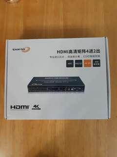 HDMI 2.0 四進二出4K矩陣(視頻選接器)