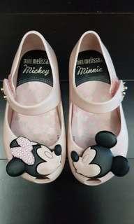 Mini melissa shoes minnie mouse (dapat box)