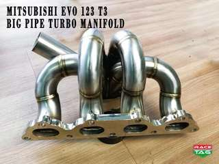 MITSUBISHI EVO 1,2,3 T3 DOWN BIG PIPE TURBO MANIFOLD
