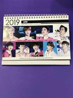 EXO 2018-2019 Desk Calendar