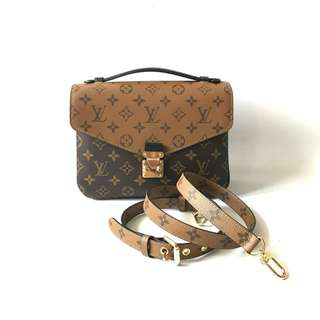 LIKE NEW! Louis Vuitton Metis Reverse 2017 complete with strap, tags, dustbag, & paperbag.