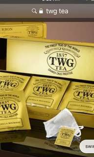 🚚 TWG Tea cotton tea bags