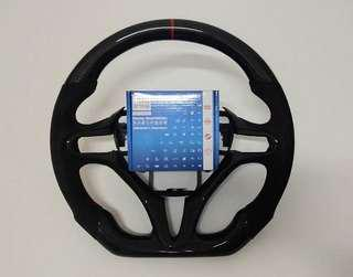 Carbon fibre steering wheel for honda civic fd, stream, jazz and fit