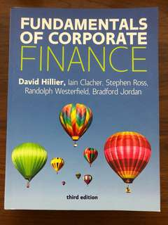 The Fundamentals of Corporate Finance Third Edition