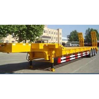 Tri-Axle Lowbed          Semi-Trailer                              60Tons Capacity  (Tire: 10.00-20/12pcs)