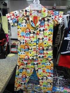 Baju Tidur Piyama Anak Motif Tsum Tsum Lucu
