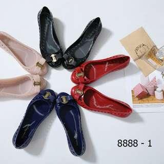 [SALVATORE FERRAGAMO VARA BOW JELLY BALLET FLAT 8888-1] Sepatu Fashion Wanita Impor Murah