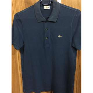 Lacoste LEGIT navy blue polo shirt stretch fit size 3 P4,150