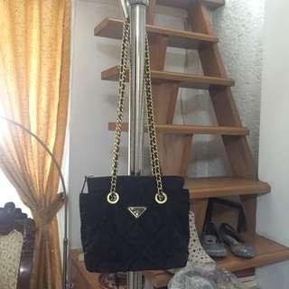 Auth prada chain sling bag
