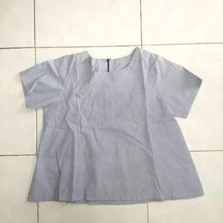stripe blue blouse