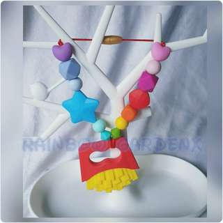 🚚 Fries Teether with Rainbow beads Carrier Accessory