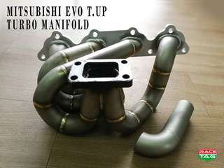 MITSUBISHI EVO TURBO UP CUSTOM MADE TURBO MANIFOLD