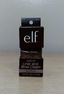 Elf Lock on Liner and Brow Cream Light Brown